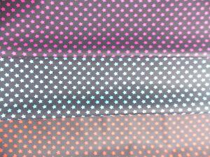 100% Cotton Poplin Fabric stars star size 8mm