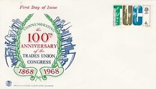 GB 1968 Unadressed 100th Anniversary of the  TUC  First day Cover VGC