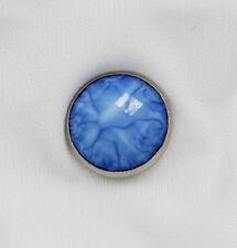 Muslim Women's Sea Ripple Magnetic Hijab 'Pin' Blue