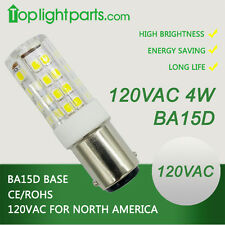 (20pcs) x High Quality 6000K White BA15d 110V 120VAC 4W 1142 LED Lamp Light Bulb