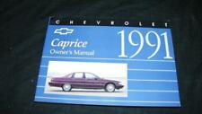 Vintage 1991 Chevrolet Chevy Caprice Oem Owners Manual Book Auto Car