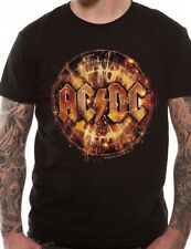 Official AC DC Rock n Roll Explosion T Shirt Logo High Voltage Thunderstruck NEW