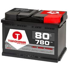 Autobatterie 80Ah +30% Power Starterbatterie Audi BMW Mercedes VW 74Ah 75Ah 77Ah