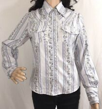 Morbid Threads Snap Button Down Shirt Small Rockabilly Style Floral Hot Topic