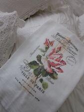 Beautiful PINK Rose Ville De PARIS Tea Towel FRENCH Inspired Kitchen DECOR