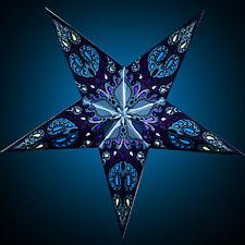 """STERNENLICHTER24 Papierstern Leuchtstern Faltstern Blau """"Blue Galaxie"""" NEU!"""