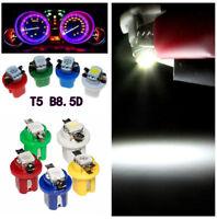 50X T5 B8.5D LED Indicator Gauge Dashboard Dash Side&Parking Light 5 Color Bulbs