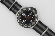 Tag Heuer WAH1110 BLACK Formula One F1 Watch Zulu Diver NATO Strap Mens Red SS