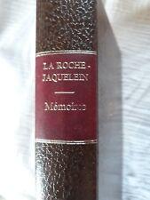 Memoires. Marquise de LA ROCHEJAQUELEIN