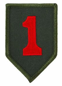 """1st First Infantry (Big Red One) Patch (017) 2"""" x 3"""" Embroidered Patch 69015"""