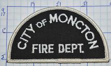 CANADA, MONCTON FIRE DEPT NEW BRUNSWICK WHITE EDGE PATCH