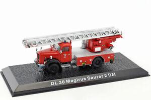Magirus Saurer 2 DM DL 30 German Fire Engine 1971 Year 1/72 Scale Model ALTAYA