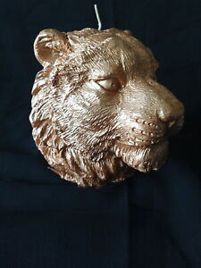 Candle Large Gold by Paperchase - Tiger Head - (8222)