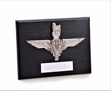 "Parachute Regiment - LARGE ""Nickel Plated"" Presentation Plaque (FREE Engraving)"