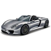 PORSCHE 918 SPYDER 1:24 scale Metal Diecast Model Die Cast Car Models Grey