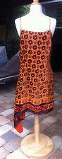 Anna Sui for Target Asymmetrical Burnout Velvet Silk Dress size 11