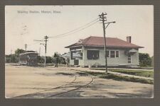 [30199] 1910 POSTCARD TROLLEY at the WAITING STATION, MARION, MASS.