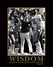 Iowa Hawkeye Football Motivational Poster Nile Kinnick Stadium Hayden Fry  MVP38