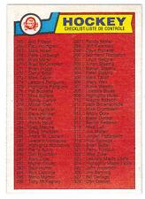 83-84 OPC O-Pee-Chee Checklist #396 (Near Mint - Mint)