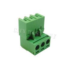 50 pcs 5.08mm Pitch 300V 16A 3P Poles PCB Screw Terminal Block Connector Green