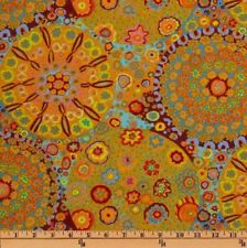 Free Spirit Kaffe Fassett Millefiore PWGP092.Orange Contemporary Cotton FAB BTY