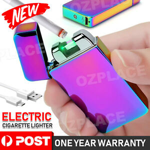 USB Rechargeable Electric Cigarette Lighter Pulse Arc Flameless Metal Windproof