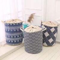 Foldable Laundry Hamper Washing Bag Dirty Wash Basket Clothes Toys Storage Bins
