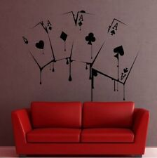 Playing Cards Ass Poker Wallsticker Wallpaper Wand Schmuck 56 x 56 cm Wandtattoo