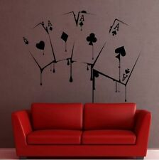 Playing cards AAS poker wall sticker wallpaper joyas de pared 56 x 56 cm murales