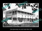 OLD LARGE HISTORIC PHOTO OF CAIRNS QUEENSLAND, VIEW OF THE PACIFIC HOTEL c1960