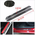 2 Pcs 49cm Autos SUV Real Carbon Fiber Door Sill Scuff Plates Protectors Sticker