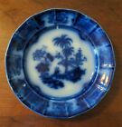 Antique Shapoo Flow Blue Transferware Plate T R Boote 19th C Staffordshire as is