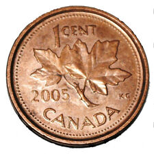 Canada 2005 1 Cent Zinc One Canadian Penny Coin  Non Magnetic