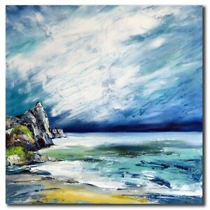 STELLA HETTNER abstrakte MALEREI Kunst ACRYL Original BILD Gemälde MODERN Meer