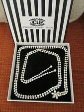 Pretty! Jewellery Connection UK Long Length Diamante Set Statement Necklace - A2