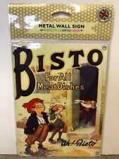 Bistro For All Meat Dishes SMALL - Tin Metal Wall Sign *Top 100*