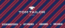 150 Euro Tom Tailor Online Shop Gutschein, Gift Voucher, Cadeaubon, Bon Cadeau