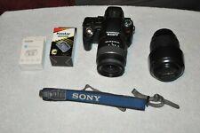 Sony Alpha SLT-A55v 16.2MP Digital SLR Camera w/18-55mm & Minolta 70-210mm