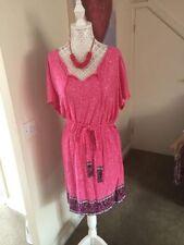 TU Viscose Floral Regular Size Dresses for Women