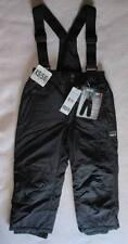 NWT Boy 5-6 XS Snow Ski Pant Zip-Off Suspender Black Polyester Nylon 32 Degrees