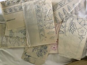 Vintage Iron On Embroidery Transfers