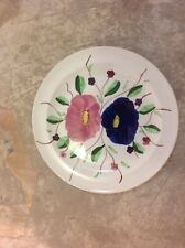 "VIntage DINNER PLATE BLUE RIDGE Dinner Plate Flowers 10"""