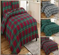 FLANNELETTE THERMAL 100% BRUSHED COTTON QUILT DUVET COVER BED SET COSY WARM SOFT