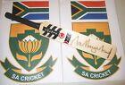 Makhaya Ntini (South Africa) signed County mini cricket bat + COA & Photo proof