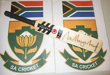 Jacques Kallis (South Africa) signed Slazenger V389 (Blue) mini cricket bat +COA