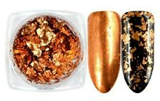 High Quality 2g Chrome Effect Flake Mirror Pigment Nail Art - Copper