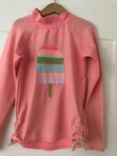 Cotton On Girls Apricot Bather Top / Rashie. Ice cream Image . Size 8