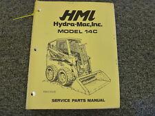 Hmi Hydramac Inc Model 14c Skid Steer Loader Parts Catalog Manual Book