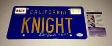 William Daniels Hand Signed KITT Knight Rider LICENSE PLATE In Person PROOF JSA