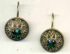 Russian jewelry Rare VINTAGE earrings silver 875 star USSR gold-plated 14k